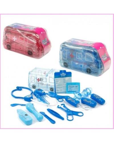 Доктор 801A/B стетоск, градус, шприц, щипцы, молоточ, скальпель, ножницы...в машинке