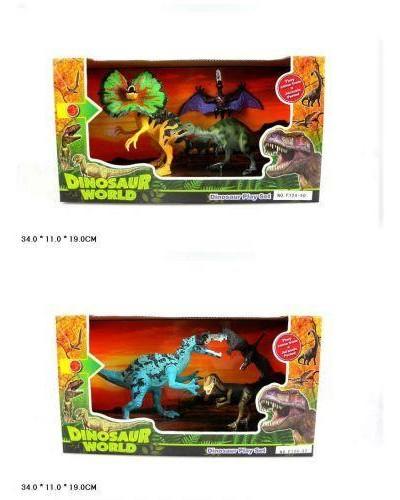 """Животные F124-59/8/4/0 """"Динозавры"""", набор,в кор. 33,5*11*18см"""