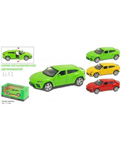 """Машина металл 7701 """"АВТОПРОМ"""" """"Lamborghini Urus"""", 3 цвета, откр.двери, в кор.16*7*7см"""