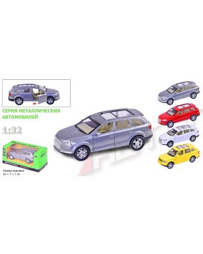 """Машина металл 7702  """"АВТОПРОМ"""" """"Audi"""" 4 вида, откр.двери, в кор.16*7*7см"""