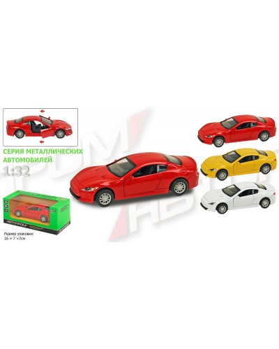 "Машина металл 7703  ""АВТОПРОМ"" ""Maserati"", 3 цвета, откр.двери, в кор.16*7*7см"