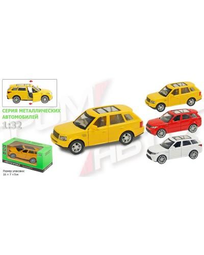 """Машина металл 7705 """"АВТОПРОМ""""  """"Range Rover"""", 3 цвета, откр.двери, в кор.16*7*7см"""
