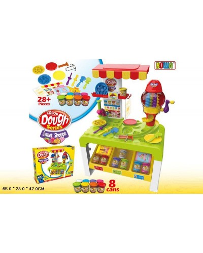 Набор для творчества 8727 Стол, 8 цветов пластилина, аксессуары, в кор.65*28*47см