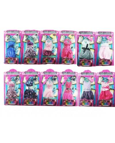 Одежда 3310-ABC 12 видов, для куклы Барби, планшетка 13*2,5*26,5 см