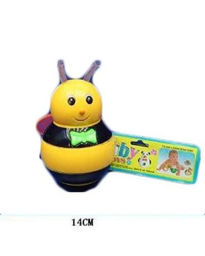 Неваляшка 6399 Пчелка, батар., муз., свет, в пакете 14см