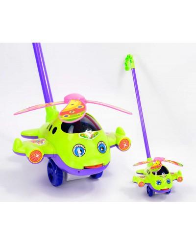 Каталочка вертолет 0320 на палочке, 2цвета, в пакете 19*13*18см