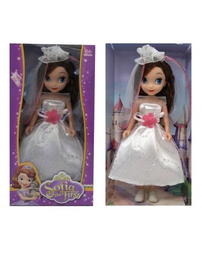 """Кукла """"Sofia"""" XD11-567 3 вида, в бальном платье, с диадемой, в кор. 13*6*26см"""