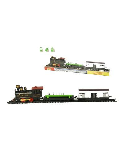 Паровоз батар 1802 + 2 вагона, под слюдой 50*7*10см