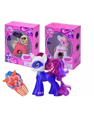 """Пони """"My Little Pony Power Ponies"""" 88278/80/82 3 вида, свет, звук, в кор.19,5*9*24,5см"""