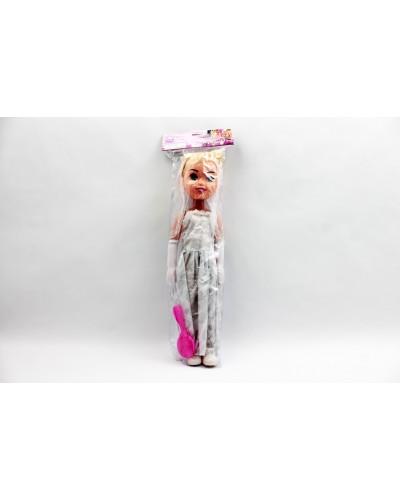 Кукла большая TK227 в свадебном платье, 55см, с расческой, в пакете