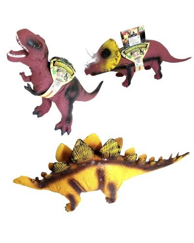 Животные резиновые CQS704-2/3/4 Динозавр, реалистичный звук, р-р игрушки 39*34*17см