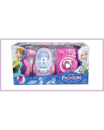 """Бытовая техника """"Frozen"""" DN6240FZ пылесос, стиральная машина, свет, звук, в кор.34*18*10см"""