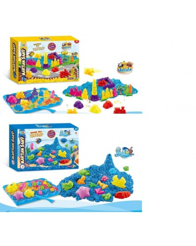 "Игра ""Живой песок"" WLN-32/33 2 вида, мерцающий, в наборе пасочки , в коробке"