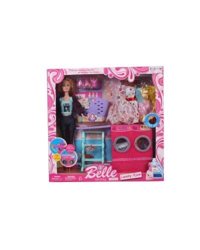 """Кукла типа """"Барби"""" JX600-33 одежда, стир.машина. глад.доска. корзина и др, в кор. 36*35*7см"""