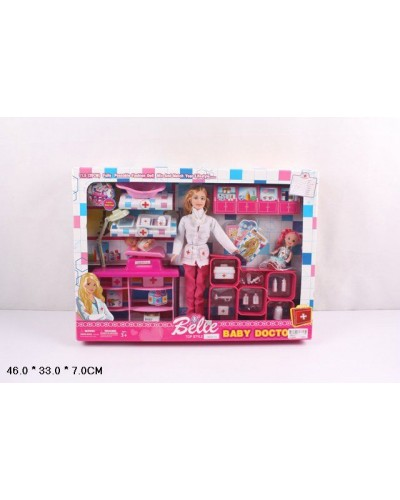 """Кукла типа """"Барби""""Доктор"""" JX600-51 пупс, кукол, пеленаль. столы, чемод, мед ин-ты, кор 33*7*46см"""