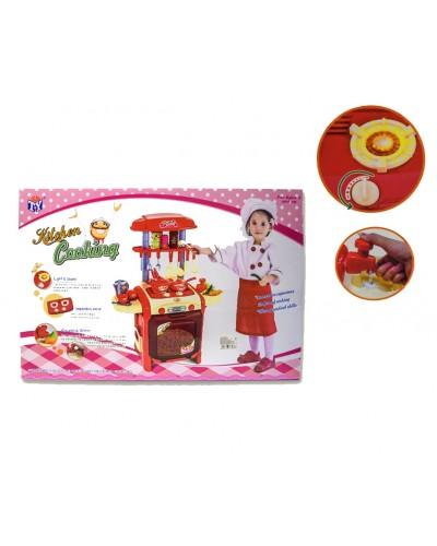 "Набор ""Кухня"" TY8018R свет, звук, газ.плита, мойка/вода, набор посуды, в кор.56*37*14см"