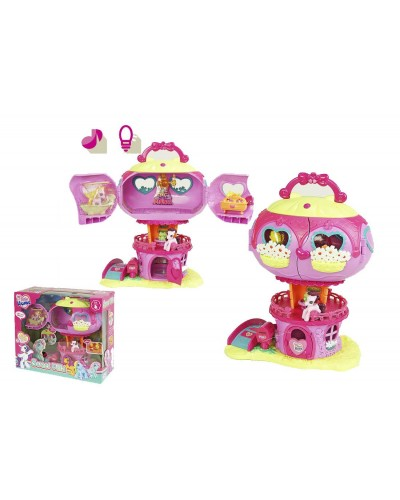 "Домик ""My Little Pony"" 799 с пони, аксесс. бат. муз, в кор. 33*38*16см"
