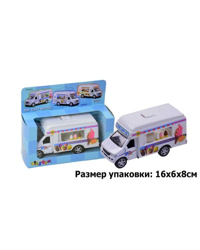 "Машина металл ""KINSMART"" KS5253W ""Ice Cream Truck"" в коробке 16*8*7,5см"