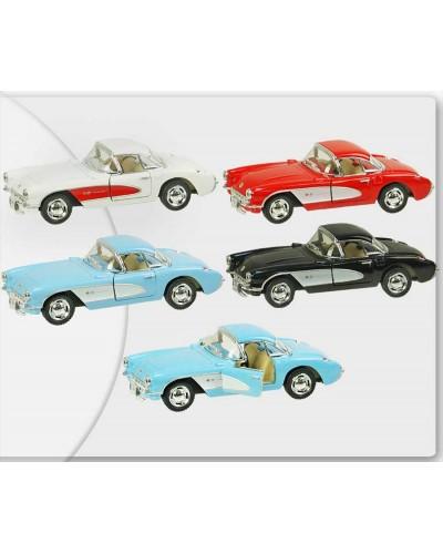 "Машина металл ""KINSMART"" KT5316W ""Chevrolet Corvette 1957"", в коробке 16*8*7см"
