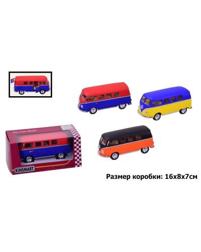 """Машина металл """"KINSMART"""" KT5060WM """"Volkswagen Classical Bus"""" в коробке 16*8*7см"""