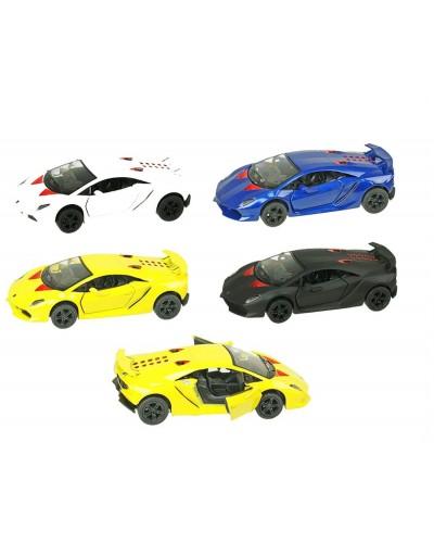 "Машина металл ""KINSMART"" KT5359W ""Lamborghini Sesto Elemento"", в коробке 16*8*7,5см"