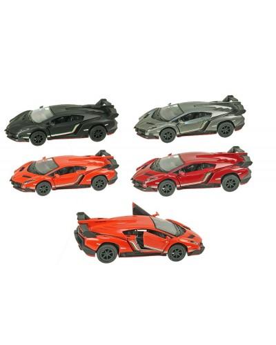 """Машина металл """"KINSMART"""" KT5367W Lamborghini Veneno, в кор.16*8,5*7,5cm"""