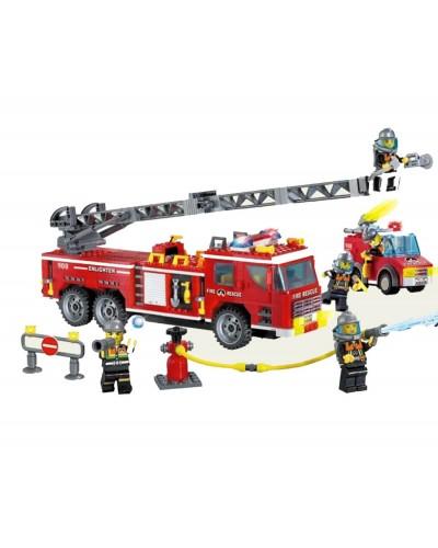 """Конструктор """"Brick"""" 908 """"Пожарная охрана""""607 дет 6+ лет, в собр., кор.48*32*6.5см"""