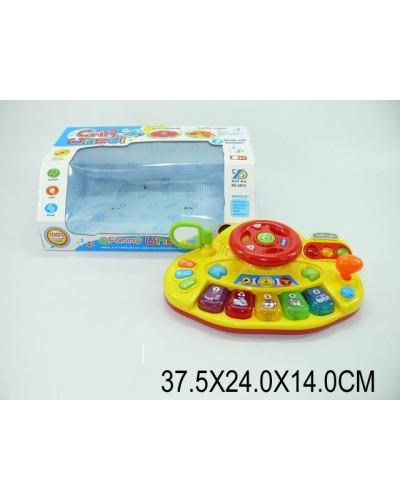 "Муз.""Руль"" XD-2013 батар., звук, свет, муз., в коробке 37,5*24*14см"