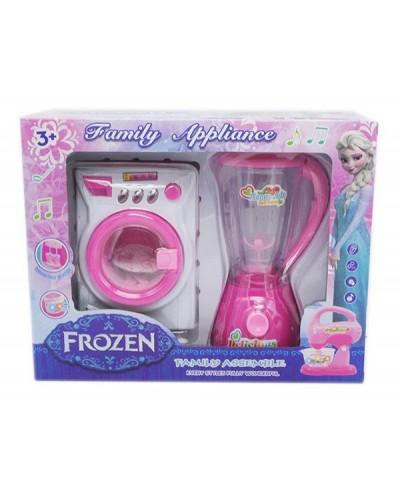 """Бытовая техника """"Frozen""""DN857FZ-14, свет-звук,блендер, стиральная машина, в кор.28*9,5*22см"""