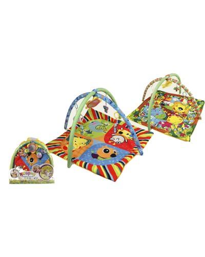Коврик для малышей 898-307B/308B, с погремушками, в сумке (65*61см)