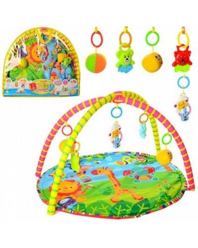 Коврик для малышей SJ777-1-8, с погремушками на дуге, в сумке (50*5*60см)