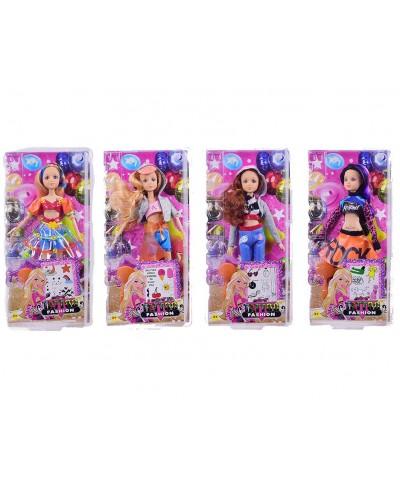 """Кукла типа """"Барби""""Тату"""" 2173, 4 вида, шарнир, с татуировками, расч, в кор.16,5*6,5*33,5см"""