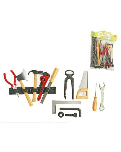 Набор инструментов 8968D-2, 14 предметов, ключи, отвертки, молоток, в пакете 17*3*24см