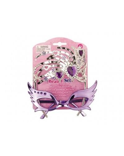 Аксессуары для девочек BE811, очки, бижутерия с бриллиантами, на планшетке 12*16*3см