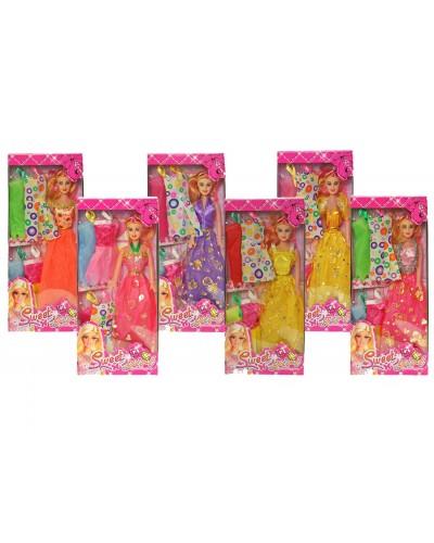 """Кукла типа """"Барби"""" 9992-C1, 6 видов, с набором одежды, в кор. 32*14*4,5см"""