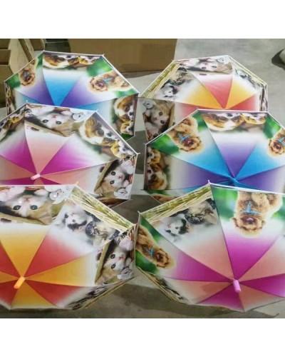"""Зонт """"Котики-Собачки"""" CLG17006 6 видов, матовый в пакете"""