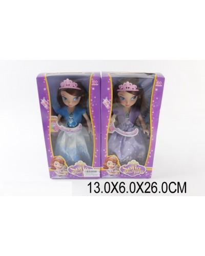 """Кукла """"S"""" XD11-1, свет/муз, 2 вида, в бальном платье, с диадемой, в кор. 13*6*26см"""