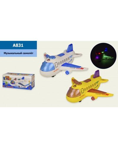 Музыкальный самолетик A831 свет, звук, в коробке 23*10*10 см