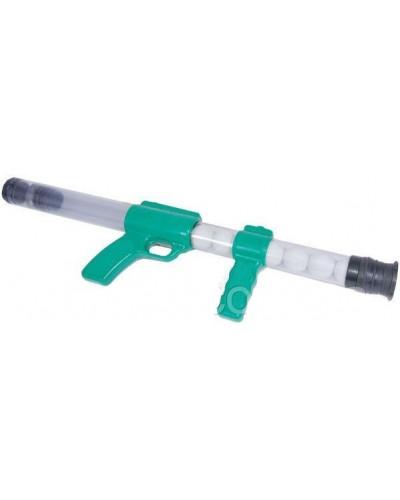 Пистолет 1056 стреляет  поролон. шариками в пакете 53см