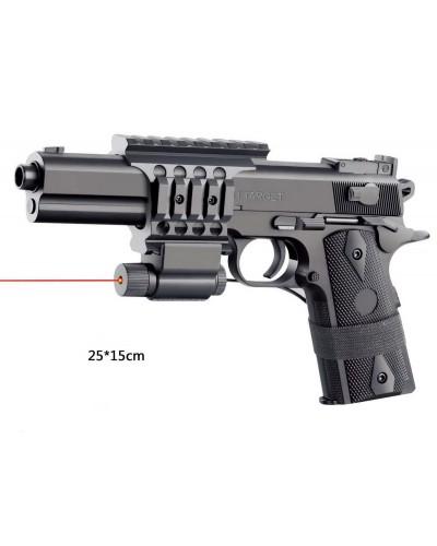 Пистолет 2123A2 батар., лазер, с пульками, в коробке 27*17*5см