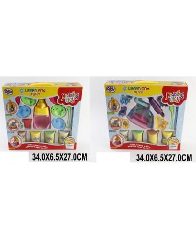 Набор для творчества 6304/5 пластилин, 2 вида, в коробке 34*6,5*27 см