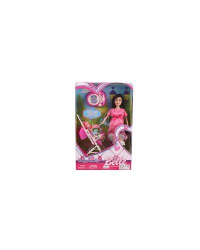 "Кукла типа ""Барби""JX600-96 беремен, с мал.куколкой, колясочкой , в кор. 32,5*21*7см"