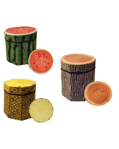 Корзина-пуфик для игрушек 3D-1705 в пакете30*30*29см