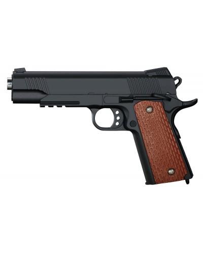 Пистолет метал-пластик  J10 с пульками, в коробке 25,5*17,5*4,8 см