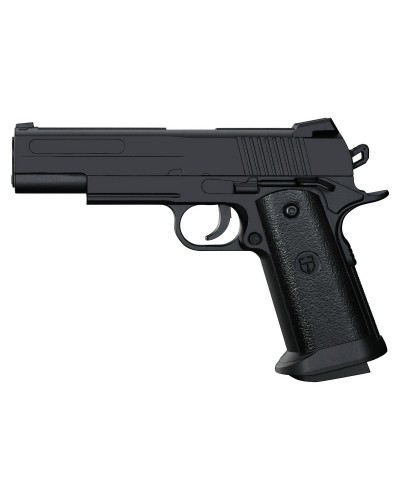 Пистолет метал-пластик J31 с пульками, в коробке 25,2*18,3*4,8 см