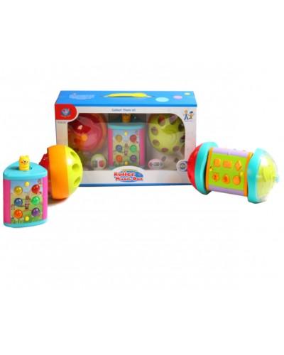 Муз. игрушка 855-25A каталка, 3 активные панели, свет, звуки животных, режим игр, в коробке