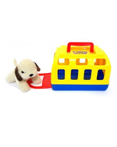 Мягкая игрушка 804A собач. в переноск, размер изделия 15,3*9,8*10,8см, 6 шт в боксе 33*31,5*11,2см