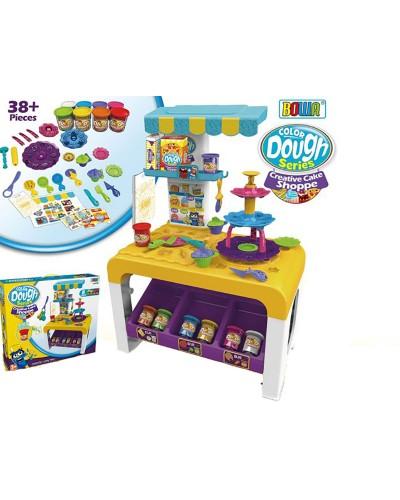 Набор для творчества 8726 Стол, 8 цветов пластилина, аксессуары, в кор.65*28*47см