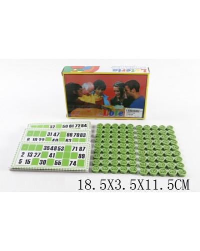 Лото 888, карточки, бочонки, в коробке 18,5*3,5*11,5см