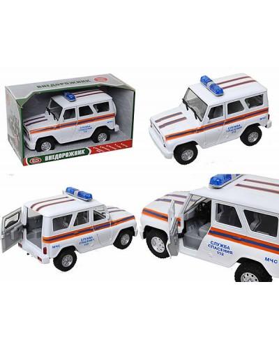 "Машина батар 9076-F ""Служба спасения"", звук, свет,  в коробке 21*11*11см"